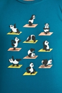 náhled - Panda jóga férfi póló