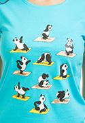 náhled - Panda jóga női póló