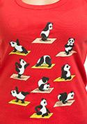 náhled - Panda jóga női ujjatlan póló