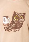 náhled - Koffeinfüggő bagoly férfi póló