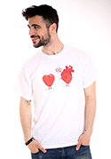 náhled - Szívügyek férfi póló fehér