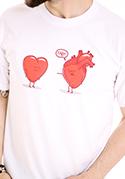 nézet - Szívügyek férfi póló fehér