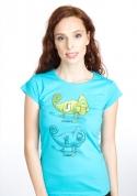 náhled - ChameleON ChameleOFF női póló kék