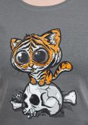 náhled - Tigriskölyök női póló szürke
