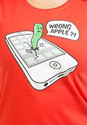 náhled - Wrong apple női póló piros