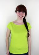 nézet - Csónaknyakú női póló zöld