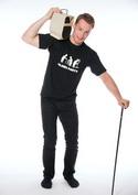 náhled - Oldies party férfi póló fekete