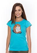 náhled - Ingyen ölelés női póló kék