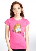 náhled - Ingyen ölelés női póló fukszia