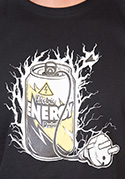 náhled - Energy drink férfi póló fekete