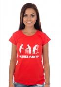 náhled - Oldies party női póló piros