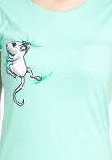 náhled - Egér női póló zöld