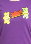 náhled - Gumimacik női póló lila