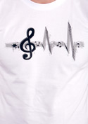 náhled - A zene az életem férfi póló fehér