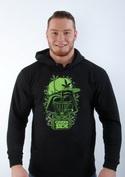 náhled - Green side férfi pulóver