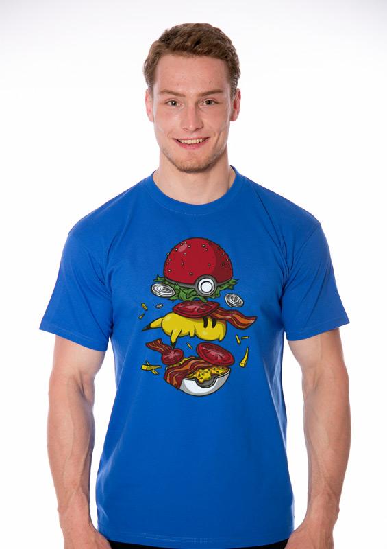 68ac1475c4 Pokémon burger férfi póló kék   Bastard.hu – vicces pólók