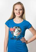 náhled - Chinchilli női póló kék