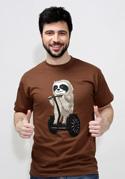 náhled - Lajhár férfi póló barna