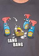 náhled - Gang bang férfi póló szürke