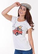 nézet - Francia buldog női póló