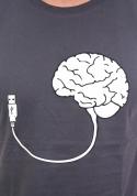 náhled - USB agy férfi póló szürke