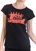 náhled - Punk's not dead női póló fekete