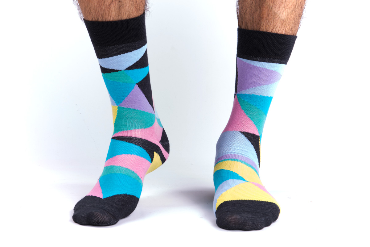 vicces színes zoknik