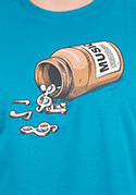 náhled - Music pills férfi póló kék