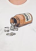 náhled - Music pills férfi póló barna