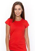 náhled - Hagyományos szabású női póló piros
