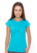 náhled - Hagyományos szabású női póló türkizkék