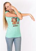 nézet - Momut női póló zöld