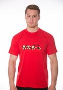 nézet - Majmok férfi póló piros