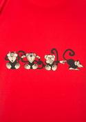 náhled - Majmok férfi póló piros