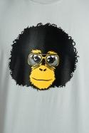 nézet - Retró majom férfi póló szürke