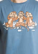 náhled - Majom trió férfi póló kék