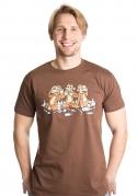 náhled - Majom trió férfi póló barna
