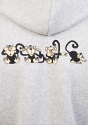 náhled - Majmok férfi pulóver szürke – hát