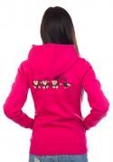 náhled - Majmok női pulóver rózsaszín – hát