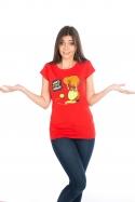náhled - Kivi női póló piros