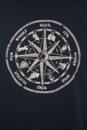 náhled - Alkoholos iránytű férfi póló kék