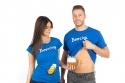 náhled - Beercing férfi póló kék