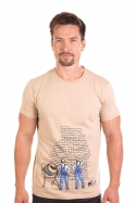 náhled - Kőműves férfi póló barna