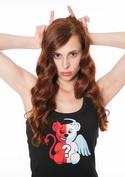 náhled - Angyal vagy ördög női ujjatlan póló fekete