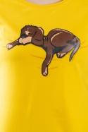 náhled - Alvó kutya női póló sárga