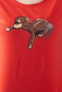 náhled - Alvó kutya női póló piros