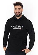 nézet - Bikers evolution férfi pulóver