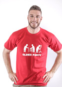 náhled - Oldies party férfi póló piros