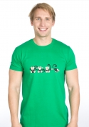 náhled - Majmok férfi póló zöld