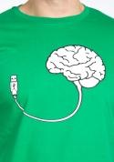 náhled - USB agy férfi póló zöld